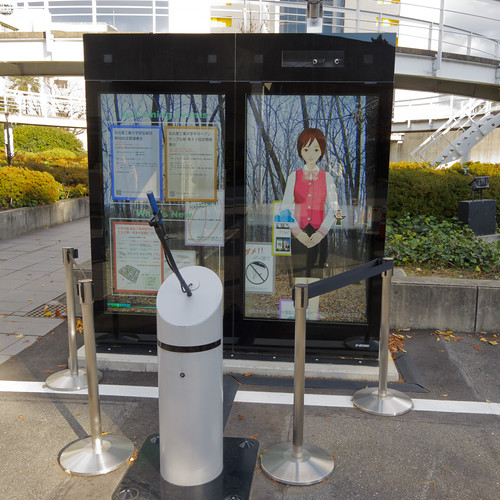 Digital signage girl