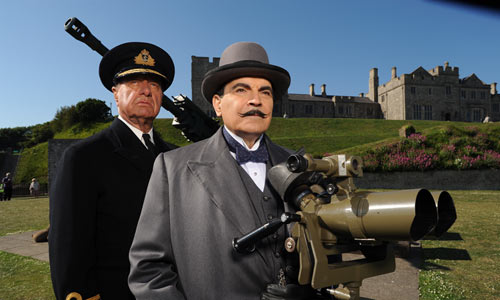 Geoffrey Palmer and David Suchet in The Clocks