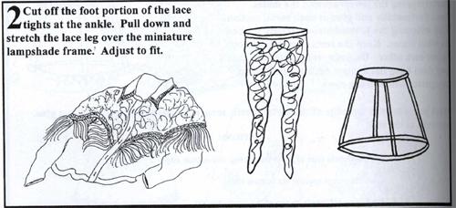 Lace leg lampshade instructions