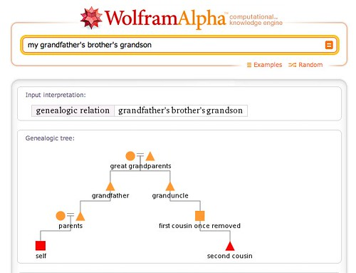 my grandfather's brother's grandson - Wolfram|Alpha