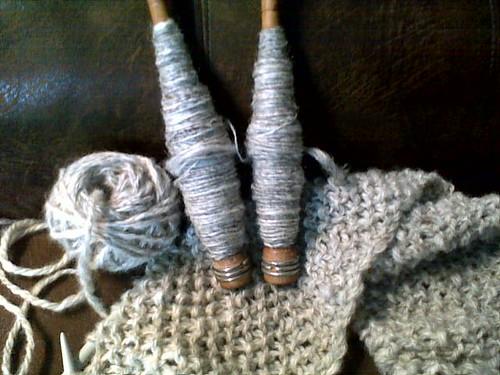 handspun shetland, singles and bulky 3 ply