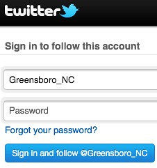 Twitter follow by Greensboro NC