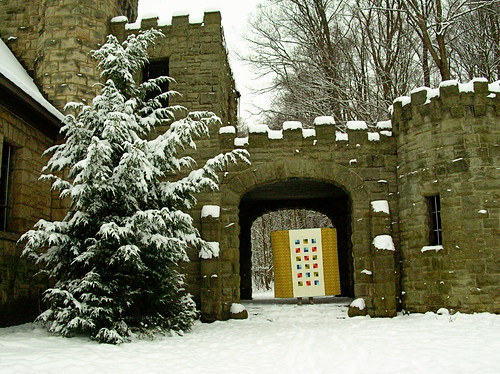 quilt back and castle