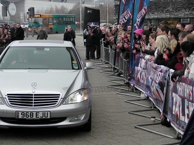 Britains Got Talent auditions, Cardiff. David Walliams arrivals.