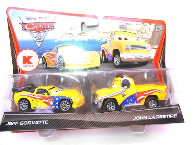 DISNEY CARS 2 KMART CREW CHIEF 2 PACK JOHN  LASSETIRE (1)
