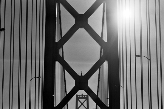 The Bay Bridge en route to San Francisco