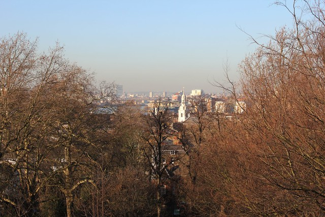 view from greenwich park