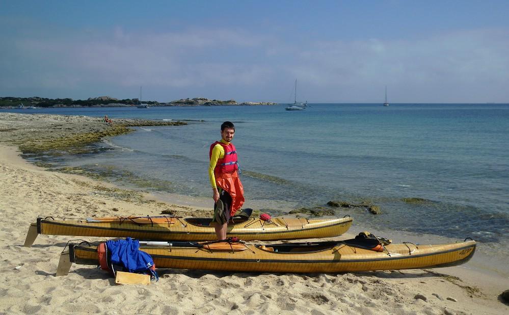 la spiaggia sabbiosa della Rena di Levante o Tibula, nostro punto d'imbarco.