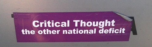 Bumper Sticker Logic: Critical Thinking by ROIHUNTER