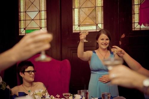Layne toasting