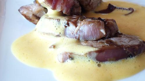 Pork with citrus Zabaione - medaglioni di maiale con zabaione agli agrumi