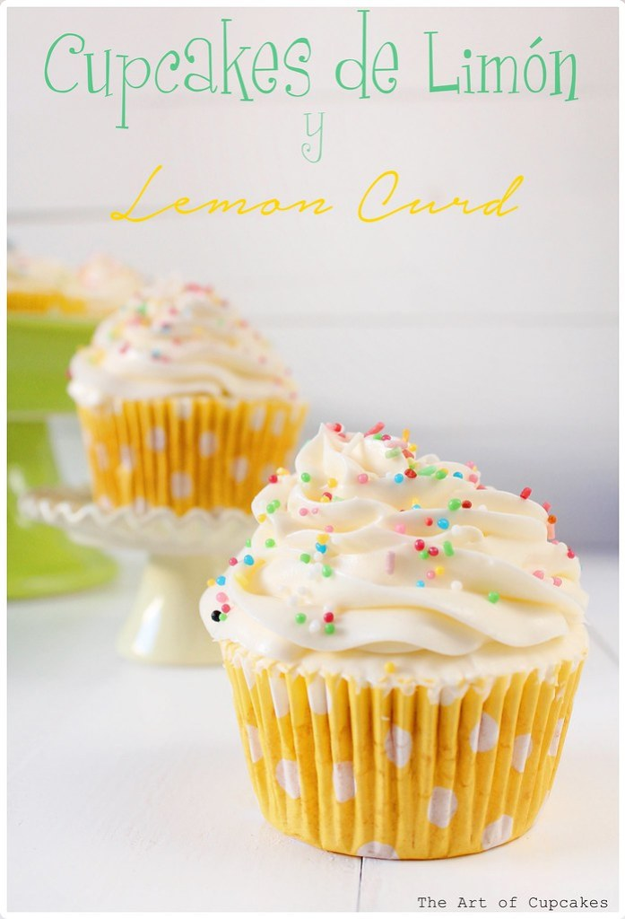 Cupcakes de limón y lemon curd, the art of cupcakes