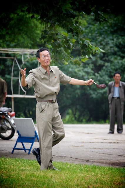 Man in the Park, North Korea