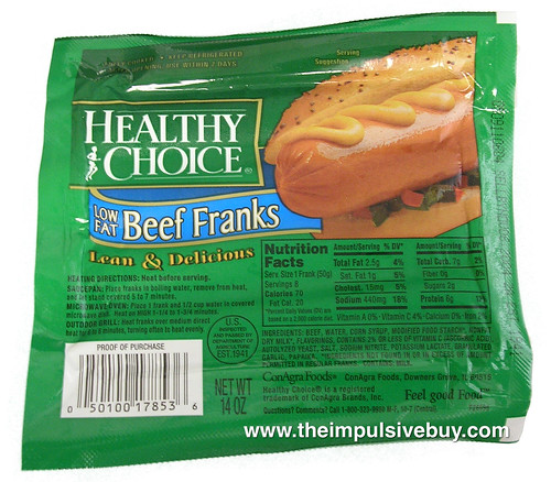 Healthy Choice Beef Franks