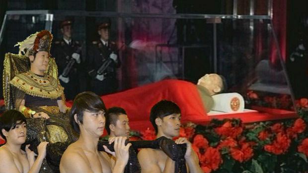 Inspecting Kim Jong Il's dead body