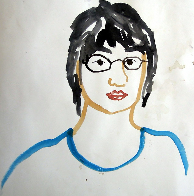 Quickly sketched self-portrait