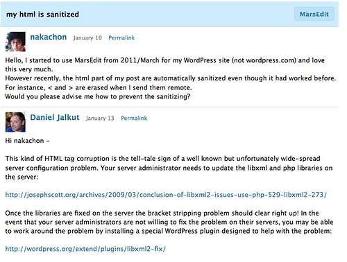 my html is sanitized - Red Sweater Forums