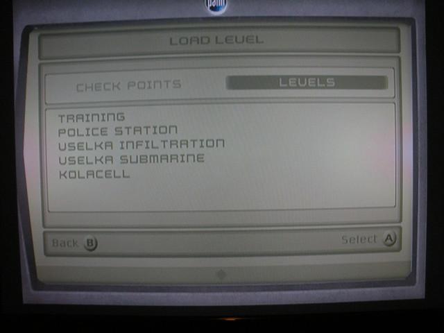 Splinter Cell Level select