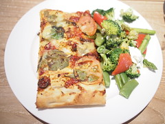 Pizza and broccoli salad, Baker & Cook, Hillview Avenue, Greenwood