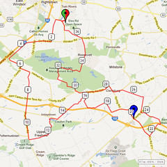 14. Bike Route Map. Etra Lake Park, Hightstown, NJ