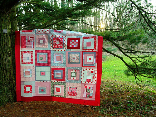 Winter quilt top