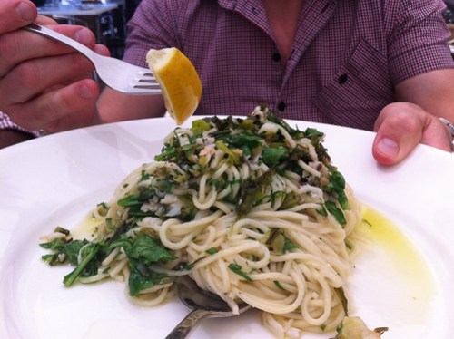 Angel hair with blue swimmer crab meat at Table 78