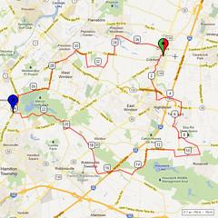 13. Bike Route Map. Cranbury NJ