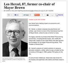 Leo Herzel, 87, former co-chair of Mayer Brown
