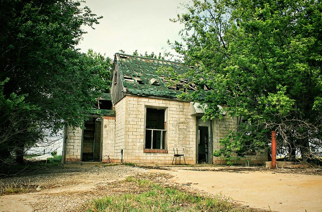 """Alone Time""; abandoned filling station, Route 66 USA. Photo copyright Jen Baker/Liberty Images (pinning is okay)."