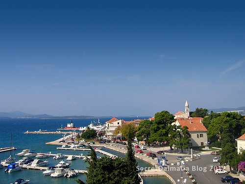 Biograd and view of Pasman Channel