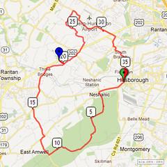 14. Bike Route Map. Somerset Valley YMCA, Hillsborough, NJ