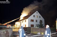 Scheunenbrand Rüsselsheim 03.02.12