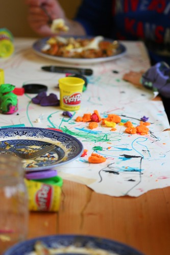 play-doh at the new table