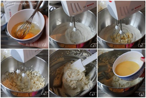 Yellow butter cupcake - Method 1