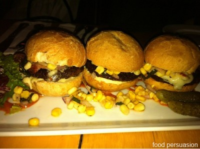 eight 1/2 bacon burger sliders