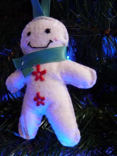 Handmade Christmas tree ornament