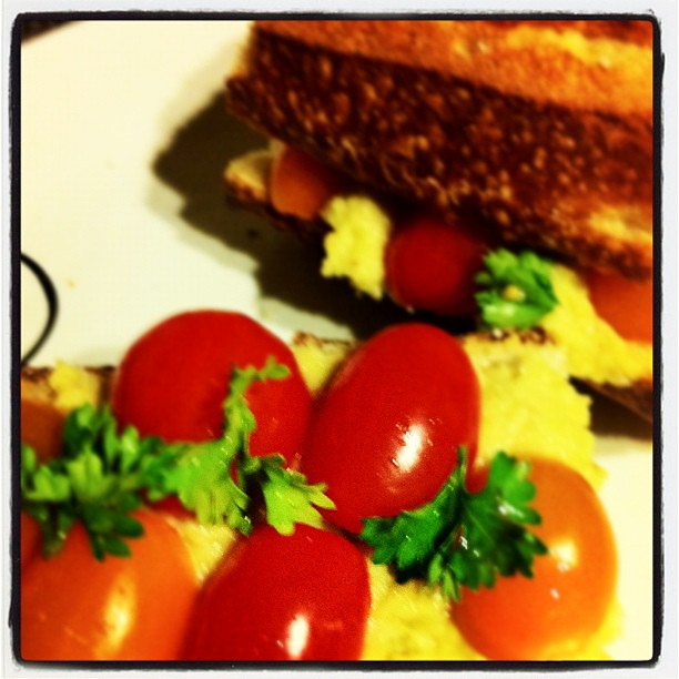 Baguette w/ Chickpea Spread & Sweet Tomatoes Part II