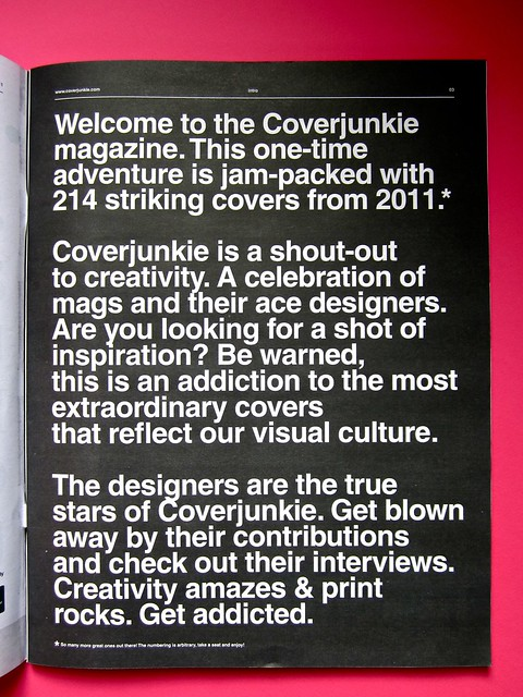 Coverjunkie Magazine / 1. p. [3] (part.), 1