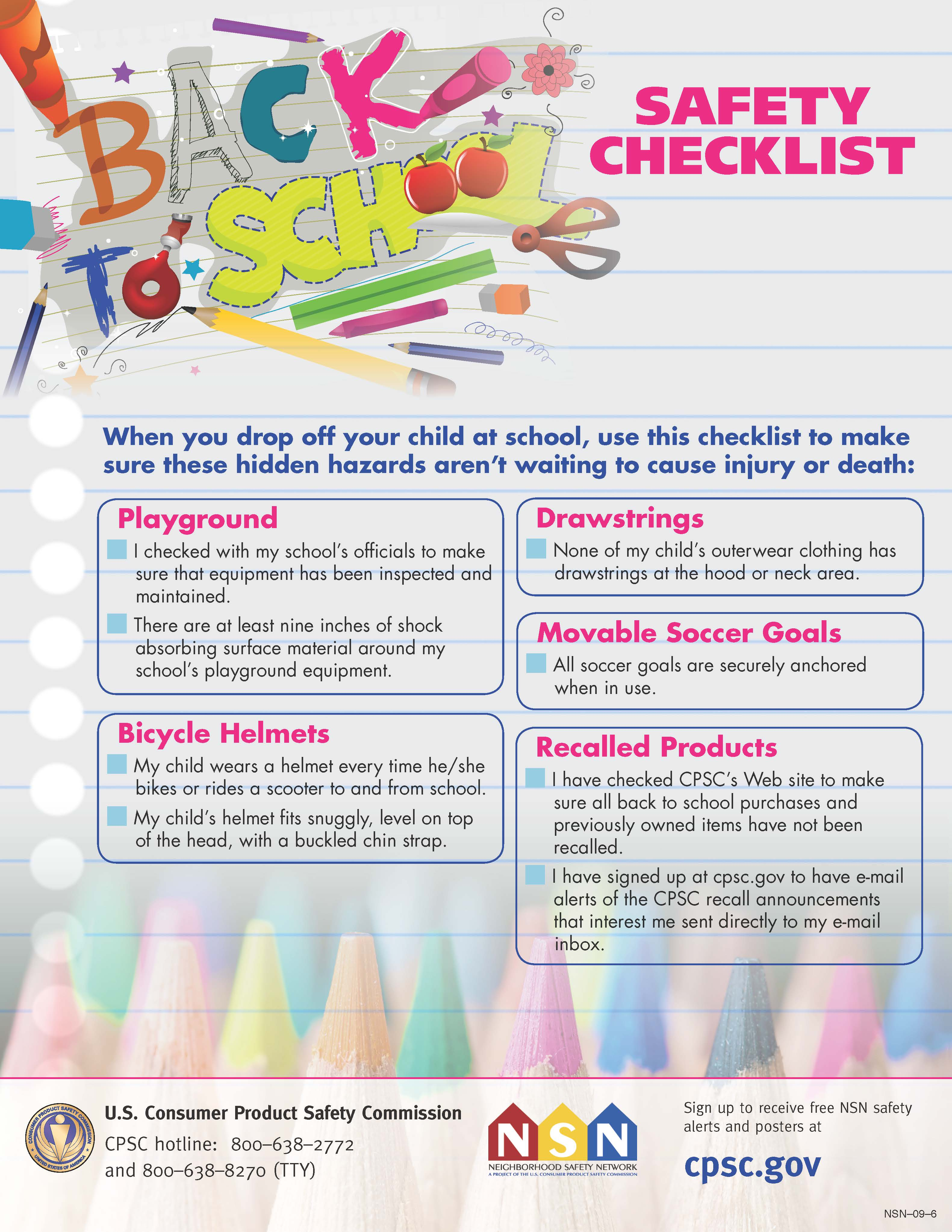 Back To School Safety Checklist Flickr