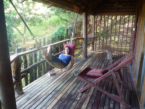 Lol chilling in her hammock