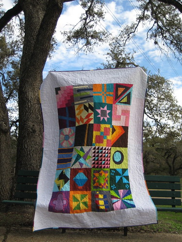 Solid Blocks Quilt - front