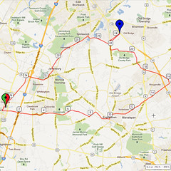 07. Bike Route Map. Cranbury NJ