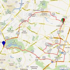 12. Bike Route Map. Cranbury NJ