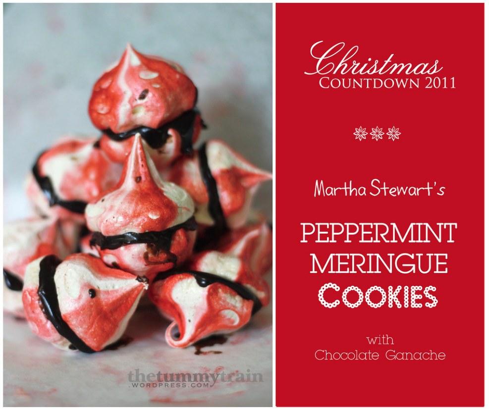 Peppermint Meringue Sandwiches With Chocolate Ganache