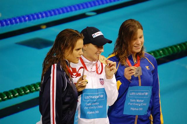 Rijeka 2008 Women's 100 Backstroke Medal Winners