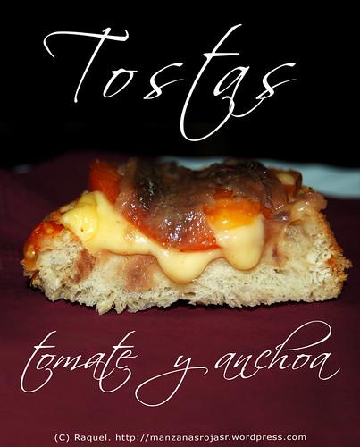 Tostas de tomate y anchoa