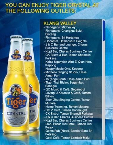 Tiger Crystal Beer outlets