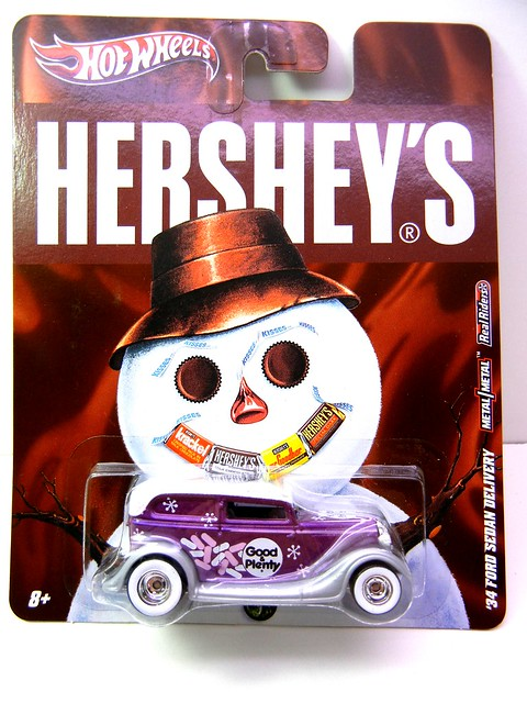 HOT WHEELS NOSTALGIA HERSHEYS '34 FORD SEDAN DELIVERY (1)