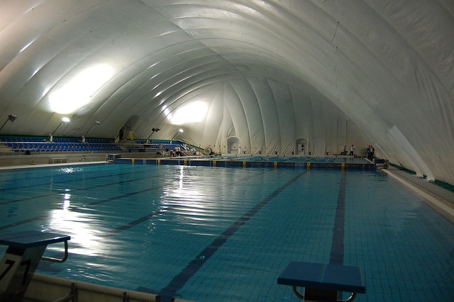 Cc Photo 87 Air Dome Over The Rijeka 2008 Training Pool  Swimmers Daily-9793