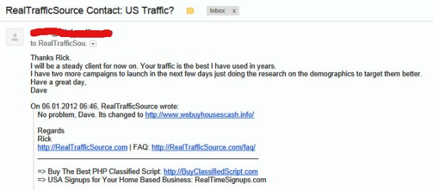 realtrafficsource reviews